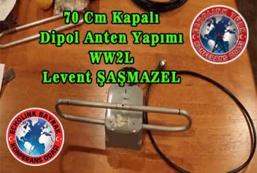 70 Cm  (430 MHz – 440 Mhz) Kapalı Dipol Anten Yapımı